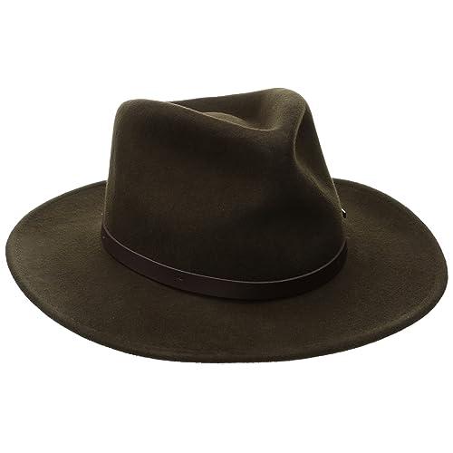 23c6d6565aa Woolrich Men s Crushed Felt Outback Hat