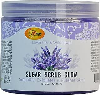 Spa Redi Sugar Scrub Glow (Lavender & Wildflower, 16 oz)