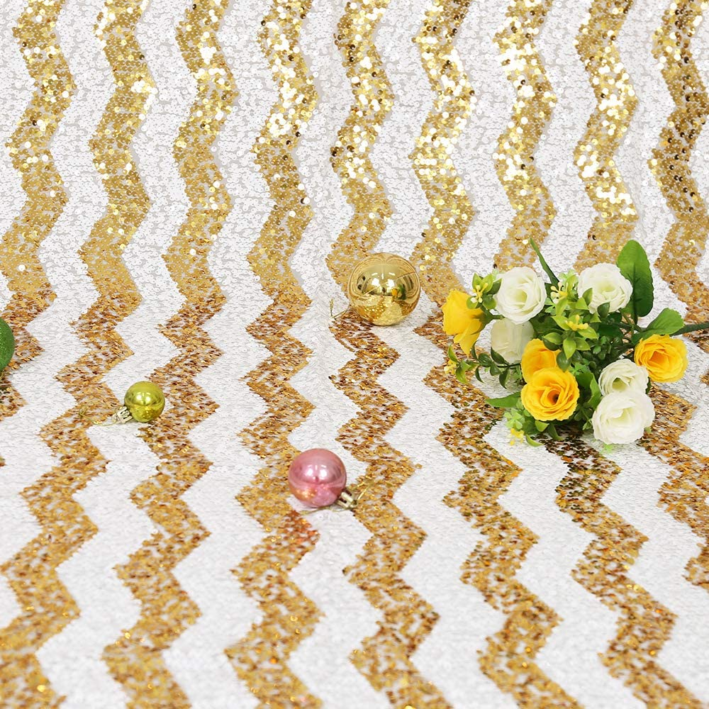 TRLYC Champagne Sequin Backdrop Curtain 4x7ft Glitter Champagne Photography/Backdrop Photo/Background for Banquet Party Wedding Christmas Birthday