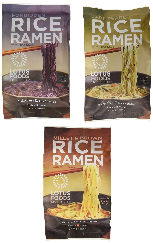 Lotus Foods Gluten Free Rice Vegan 3 Manufacturer regenerated product Flavor Miso outlet 6 Soup Ramen