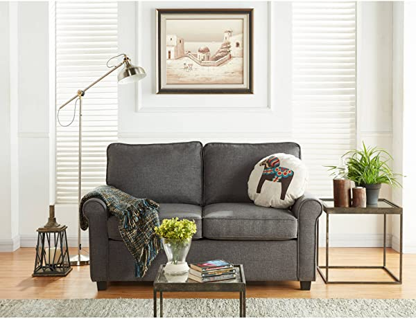 Mainstays Sofa Sleeper With Memory Foam Mattress No Tool Easy Assembly Grey