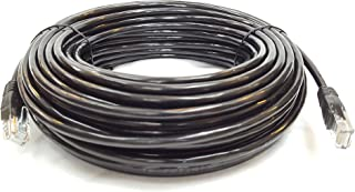 Cable Sourcing - 100ft (30m) CAT5e cable, EXTERNAL (outdoor use) & INTERNAL, 100% SOLID COPPER, Ethernet, CCTV,, 10/100/1000mb, RJ45 Plugs, Networking & Patch Cable, DATA/LAN, BLACK