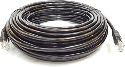 33ft (10m) CAT5e cable, EXTERNAL & INTERNAL, Ethernet cable, CCTV, 100% Solid Copper, 10/100mb, RJ45, Networking Cable, LAN, Patch Cable, BLACK