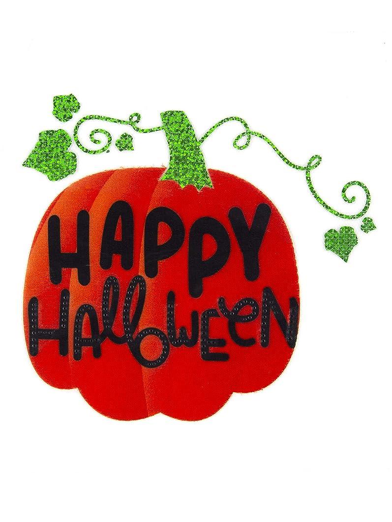 Cousin DIY 39999228 Happy Halloween Pumpkin Sparkle Iron-On Transfer, Orange