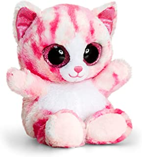 Keel Toys SF0442 15 cm Animotsu Pink Cat Plush Toy