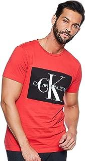 Calvin Klein Men's J30J307843-Racing Red S/S T-Shirts