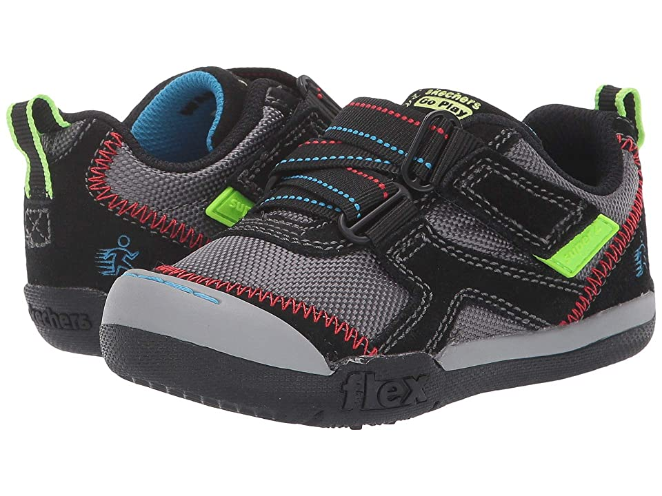 SKECHERS KIDS Flex Play-Easy Pick (Toddler/Little Kid) (Black/Charcoal) Boy