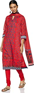 BIBA Women's Synthetic Achkan Salwar Suit Set