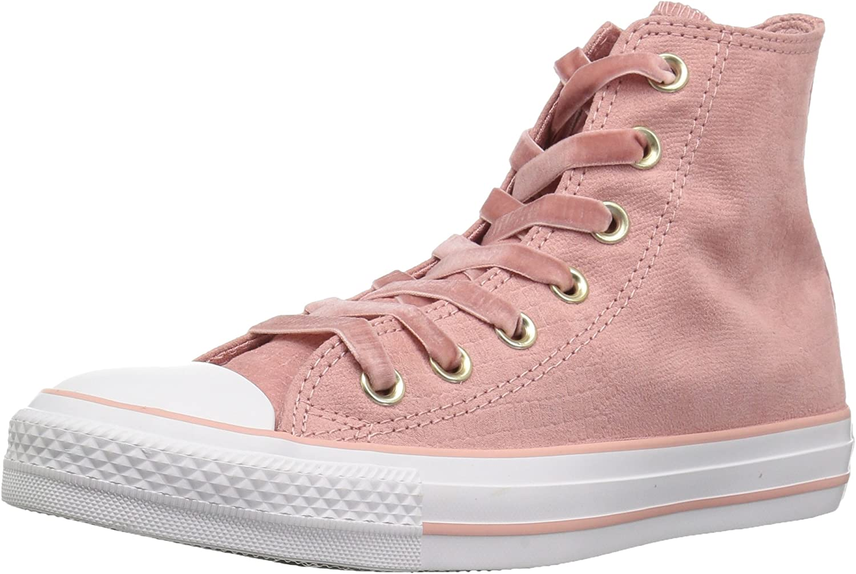 Converse Womens CTAS Hi Rust Pink Black White Sneaker