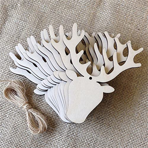 3c3151adb16 Lalang Rustic Wooden Bauble Hanging Decor Christmas Wedding Party Bunting  Decoration (elk)