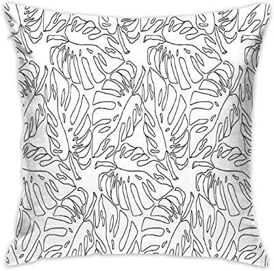 Amazon.com: HUERY Monstera Leaves - Cojín para sofá o ...