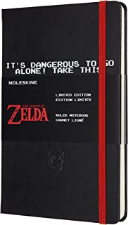 Moleskine - The Legend of Zelda tematisk anteckningsbok i begränsad upplaga, svärdutgåva, linjerade sidor, inbunden och te...