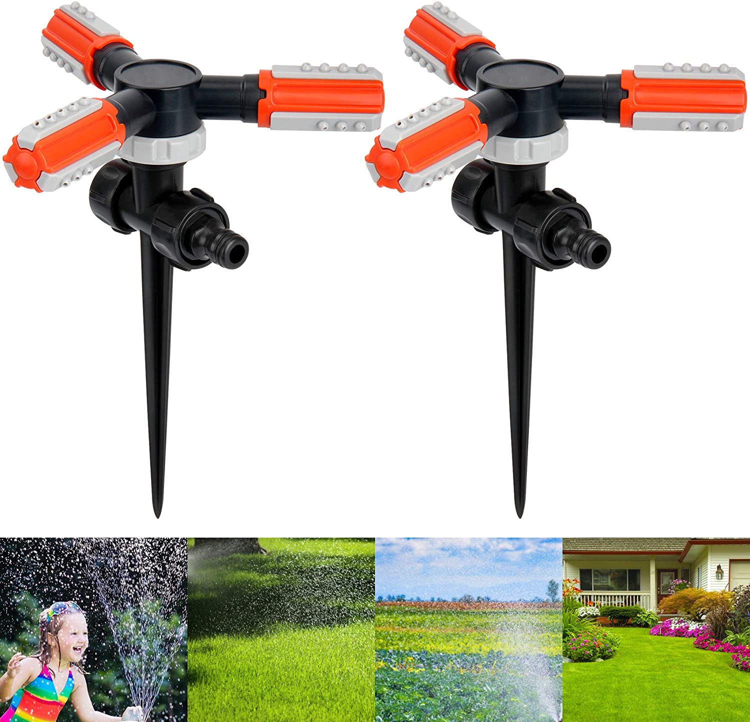 Lawn All stores are sold Sprinkler 360 Degree Rotating outlet Hose with Garden G