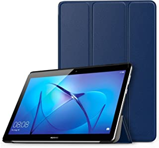 MoKo Case Fit Huawei MediaPad T3 9.6 Model AGS-W09, Ultra Lightweight Slim Smart-shell Stand Cover Case with Magnetic Closure for Huawei MediaPad T3 9.6 Inch Model AGS-W09 Tablet, Indigo