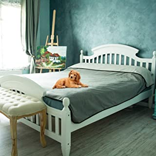 "Furniture, Sofa and Couch Cover - 100% Waterproof Mattress Protector Blanket for People, Dogs, Cats or Any Pets – Large Size 80x90"" for Twin, Queen, King Beds or Car Seats – Great GlFT"