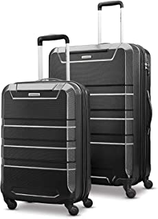 Samsonite Invoke Hardside Luggage with Spinner Wheels, Black, 2-Piece Set (20/28)