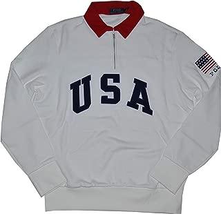 Men's USA CP-93 Cotton Blend Half Zip Pullover Sweatshirt