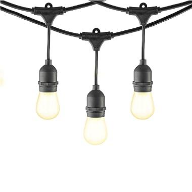 Mr Beams 2W S14 Bulb LED Weatherproof Outdoor String Lights, 24 feet, Black