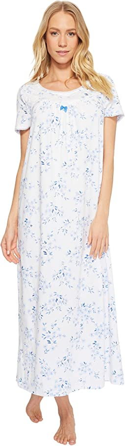 Carole Hochman - Cozy Jersey Short Sleeve Long Gown