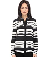 Kate Spade New York - Cape Stripe Silk Shirt