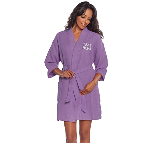Personalized Embroidered Robes – Custom Waffle Kimono Robe – Monogrammed  Bathrobes eeee4a788