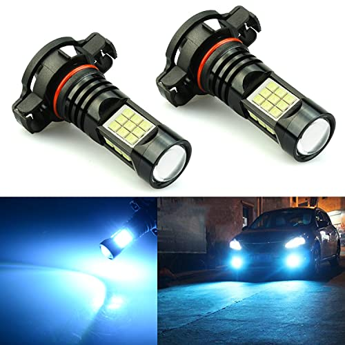 JDM ASTAR 2400 Lumens Extremely Bright PX Chips 2504 PSX24W LED Fog Light Bulbs for DRL