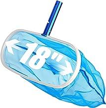 Sabuy 18 Inch Heavy Duty Deep-Bag Swimming Pool Leaf Net Skimmer Rake with Nylon Medium..