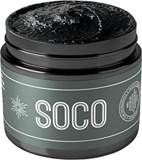 SOCO Botanicals - Activated Charcoal Exfoliating Face Scrub with Organic Essential Oils - All Natural Purifying Facial Cleanser, Face Scrub & Detox Face Mask In One