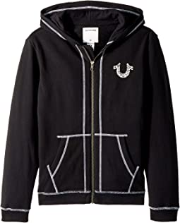 True Religion Kids - Shoestring Horseshoe Hoodie (Big Kids)