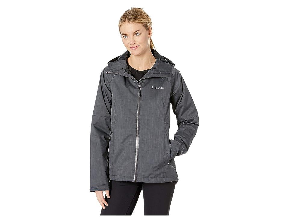 Columbia Top Pinetm Insulated Rain Jacket (Shark Melange/Black) Women