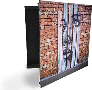148097501 Armoire à clés avec façade en verre magnétique 30 x 30 cm