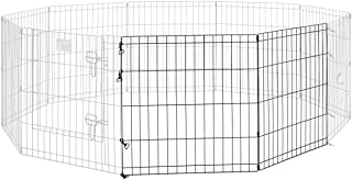 Universal Pet Playpen 2-Panel Extension Kit | Fits Metal 24-Inch Dog Pens | Kit Measures 24H x 47.50W Inches| Includes 4 T...