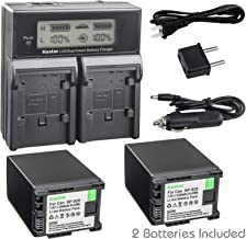 Kastar Fast Charger + 2 Battery Replacement for Canon BP-828 BP820 VIXIA GX10 XF400 XF405 HFG30 HFG40 HF G50 HF G60 HFM32 HFM40 HFM400 HF20 HF200 HG20 HG21 XA10 XA20 XA25 XA30 XA35 XA40 XA45 XA50 XA55