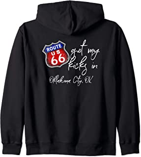 Route 66 Got My Kicks In Oklahoma City OK Souvenir Gift Zip Hoodie