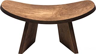 BLUECONY Ikuko Laminate Wood Travel Meditation Bench, Laminate Wood, Handmade Eco Friendly Wooden Kneeling Ergonomic Seiza...