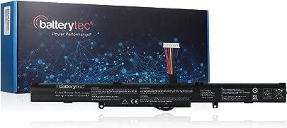 Batterytec Ersatzbatterie f r ASUS Laptop A41-X550E  R751  R752  F751 Serie  ASUS F550 Serie  X751  K751 Serie 14 4V 2200mAh  12 Monate Gew hrleistung