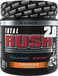 Weider Total Rush 2.0 Sabor Naranja. Fórmula con 6g