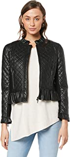 French Connection Women's Quilted PU Jacket