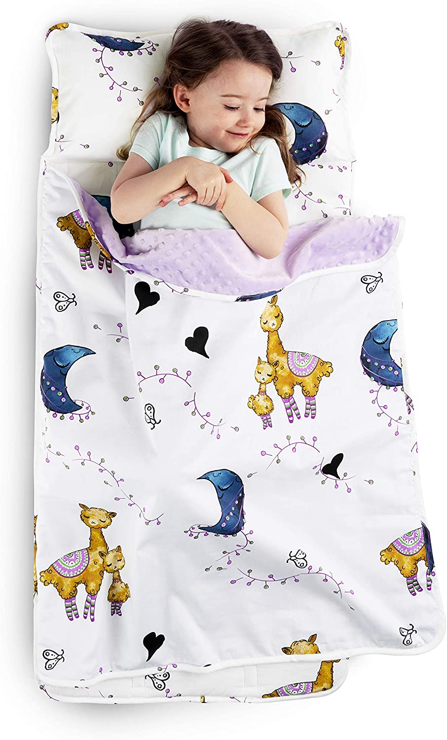 JumpOff Jo - Toddler Nap Mat - Children's Sleeping Bag with Removable Pillow for Preschool, Daycare, and Sleepovers - Measures 43 x 21 Inches with Original Design