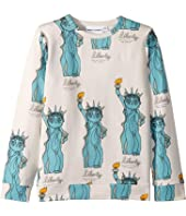 mini rodini - Liberty All Over Print Long Sleeve Tee (Infant/Toddler/Little Kids/Big Kids)