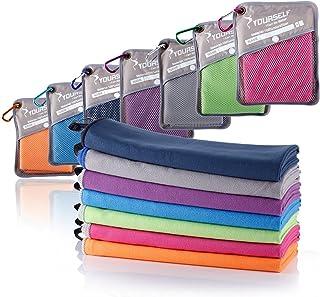 comprar comparacion SYOURSELF Toalla de microfibra para viajes y deportes - XL, L, M, S - secado rápido, ligero, absorbente, suave - ideal par...