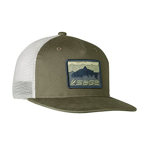 cd3e43431b7 Sage Fly Fishing Patch Trucker Baseball Hat