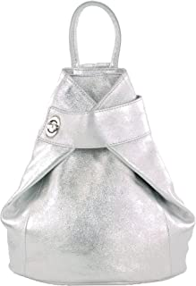 modamoda de - T179 - ital: Damen Rucksack Tasche aus Leder
