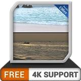 無料のビーチ海岸の昼と夜-HDR 8k 4kテレビで見事な海岸の日の出であなたの気分を変えて、調停と平和のための壁紙とテーマとして
