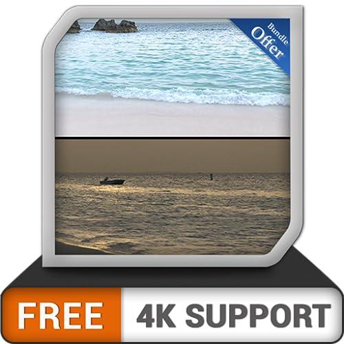 praia livre dia e noite - mude seu humor com o nascer do sol na praia deslumbrante na sua TV HDR 8k 4k e dispositivos de incêndio como papel de parede e tema para mediação e paz