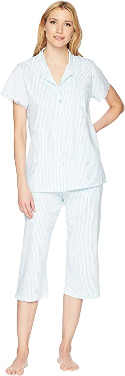 Notch Collar Capris PJ Set
