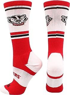 TCK University of Wisconsin Badgers Jersey Crew Socks
