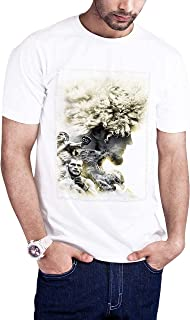 Casual Printed T-Shirt for Men, The hero Habib Mammadov 05, White
