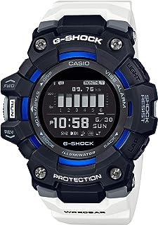 G-Shock GBD100-1A7 Bluetooth Power Trainer Series Mens Digital Black/White/Blue Watch