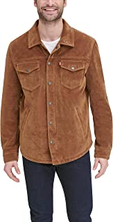 Levi's Men's Smooth Lamb Touch Leather Shirt Jacket